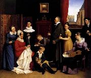 BEGAS, Carl the Elder The Begas Family oil painting