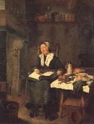 BREKELENKAM, Quiringh van A Woman Asleep by a Fire oil painting