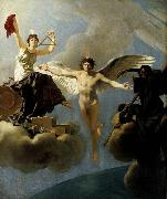 Baron Jean-Baptiste Regnault The Genius of France between Liberty and Death oil painting