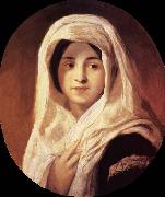 Brocky, Karoly Portrait of a Woman with Veil oil painting