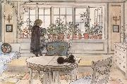 Carl Larsson Vacation Reading Assignment oil painting reproduction