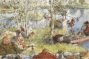 Carl Larsson The Crayfish Season Opens oil painting reproduction