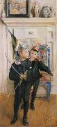 Carl Larsson Ulf and Pontus oil painting reproduction