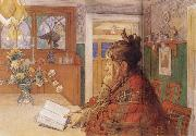 Carl Larsson Karin Readin oil painting reproduction