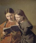 Constantin Hansen The Artist-s Sisters oil painting reproduction