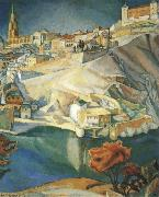 Diego Rivera Landscape oil painting reproduction