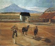 Diego Rivera Threshing Floor oil painting