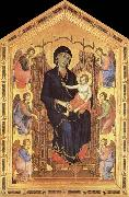 Duccio di Buoninsegna Her Madona and the Nino Entronizados,con six angelical oil painting