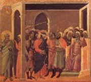Duccio di Buoninsegna The third verloochening of Christ oil painting
