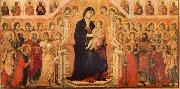 Duccio di Buoninsegna Maria and Child throning in majesty, hoofddpaneel of the Maesta, altar piece oil painting