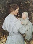 E.Phillips Fox Mother and child oil painting