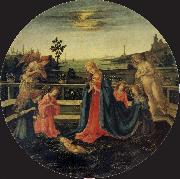 Filippino Lippi The Adoration of the Infant Christ oil painting