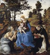 Filippino Lippi THe Virgin and Child with Saints Jerome and Dominic oil painting
