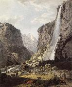 Franz Niklaus Konig The Fall of the Staubbach,dans the Vallee of Lauterbrunnen oil painting