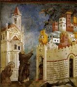 GIOTTO di Bondone Exorcism of the Demons at Arezzo oil painting reproduction