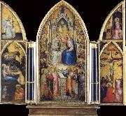 GIUSTO de  Menabuoi The Coronation of the Virgin among saints and Angels oil painting