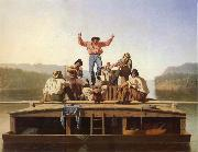 George Caleb Bingham Die frohlichen Bootsleute oil painting