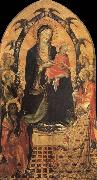 Gherardo Starnina The Madonna and the Nino with San Juan the Baptist, San Nicolas and four angeles oil painting