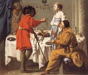 Hendrick the Brugghen Jacob Reproaching Laban for giving Him Leah in Place of Rachel oil painting reproduction