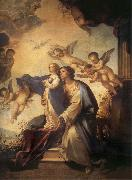 Luca Giordano Holy Ana and the nina Maria Second mitade of the 17th century oil painting