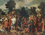 Lucas van Leyden THe Healing of the Blind man of Jericho oil painting