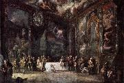 Luis Paret y alcazar Charles III Dining before the Court oil painting