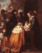 MURILLO, Bartolome Esteban Adoration of the Magi oil painting reproduction