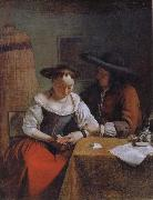 OCHTERVELT, Jacob The Declaration of Love to the Woman Reading oil painting reproduction
