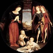 Piero di Cosimo The Adoration of the Christ Child oil painting