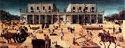 Piero di Cosimo The Building of a Palace oil painting