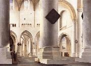 Pieter Saenredam THe Interior of the Grote Kerk,Haarlem oil painting reproduction