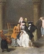 Pietro Longhi A Fortune Teller at Venice oil painting reproduction