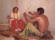 Sharp Joseph Henry The Broken Bow or father and son oil painting reproduction