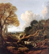 Thomas Gainsborough The Fallen Tree oil painting reproduction