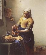 VERMEER VAN DELFT, Jan The Milkmaid oil painting reproduction