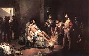 unknow artist The fever of the gold or the interrogations of Coyoacan oil painting reproduction