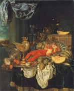 Abraham Hendrickz van Beyeren Coarse style life with lobster oil painting