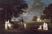 Alexander Nasmyth The Family of Neil 3rd Earl of Rosebery in the grounds of Dalmeny House oil painting