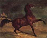 Alfred Dehodencq Horse in a landscape oil painting