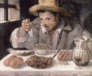 Annibale Carracci The bean eater oil painting