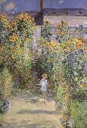 Claude Monet The Artist-s Garden at Veheuil oil painting reproduction