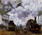 Claude Monet The Gare Saint-Lazare Arrival of a Train oil painting reproduction