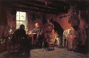 Eastman Johnson The Pension Agent oil painting