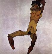 Egon Schiele Seated Male Nude oil painting reproduction