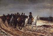 Jean-Louis-Ernest Meissonier Napoleon on the expedition of 1814 oil painting