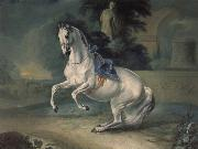 Johann Georg von Hamilton The women stallion Leal in the Levade oil painting