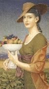 Joseph E.Southall A Dish of Fruit oil painting