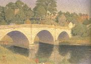 Joseph E.Southall Dinham Bridge oil painting