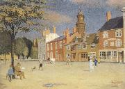Joseph E.Southall The Green at Banbury oil painting