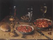 Osias Beert Museum national style life with cherries and strawberries in Chinese china shot els oil painting